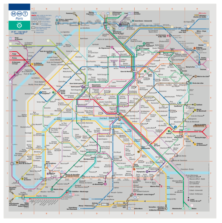 巴黎地鐵圖 RATP Paris Metro Map ()